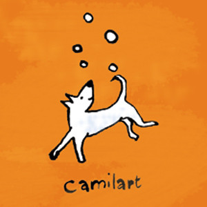 camilart-logo-dog-orange-bkgr
