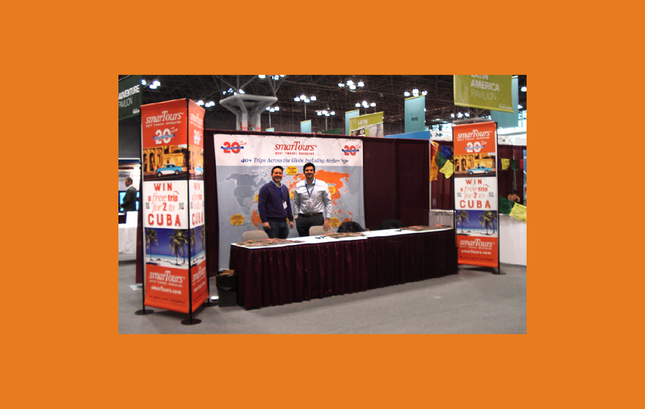 smarTours ready for the New York Times Travelshow at the Javits Center 2016