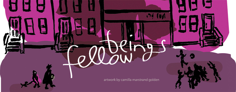 fellow beings - invitation to Camilla Golden art show