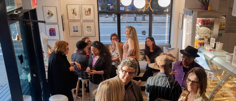 art opening in Chelsea NY