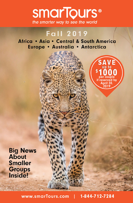 Africa Safari brochure front cover leopard camilart