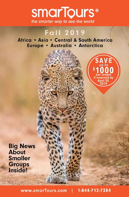 Africa Safari brochure front cover leopard camilart