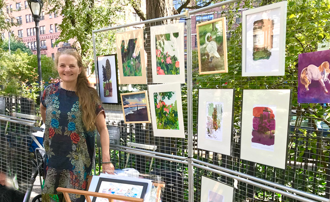 Selling Art in the Park